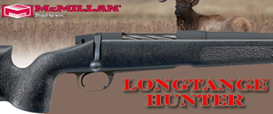 McMillan Long Range Hunter Rifle LRH308-24, 308 Win, Bolt Action, 24 in BBL 1x11 Twist, Matte Black Finsh, 4 Rd