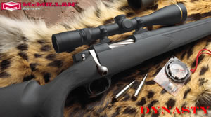 McMillan Dynasty Hunting Rifle DY338-24, 338 Win Mag, Bolt Action, 24 in BBL 1x10 Twist, Matte Black Finsh, 4 Rd