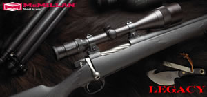 McMillan Legacy Hunting Rifle LE300-24, 300 Win Mag, Bolt Action, 24 in BBL 1x12 Twist, Matte Black Finish, 4 Rd