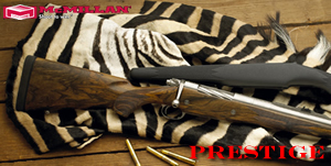 McMillan Prestige Hunting Rifle PRE375HHM-24, 375 H&H Mag, Bolt Action, 24 in BBL 1x12 Twist, Matte Black Finsh, 4 Rd