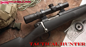 McMillan Tactical Hunter Rifle TH300-24, 300 Win, Bolt Action, 24 in BBL 1x12 Twist, Matte Black Finsh, 4 Rd