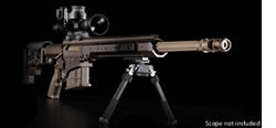 "Barrett MRAD Rifle Package 13130, .338 Lapua, Bolt-Action, 20"" Fluted Barrel, Multi-Role Brown Finish, w/Leopold Mark 4 Scope, ZERO-GAP Ultra High Rings, BORS, 10 Rd"