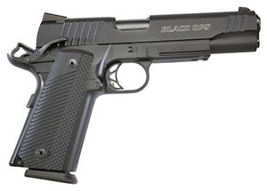 Para Ordnance 1911 Black Ops Pistol 96690, 45 ACP, 5 in, G10 Comp Grip, Black Finish, 8 + 1 Rd