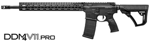 "Daniel Defense DDM4 V11 Pro Rifle-Length Carbine 02-151-12033-047, 223 Rem/5.56 Nato, 18"" BBL, Semi-Auto, 15"" KeyMod Slim Rail, DD Adj Stock, Black Finish, Geissele 3 Gun Trigger, 30 Rds"