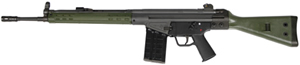 PTR 91 G.I. Rifle 915300, 308 Winchester, Semi-Auto, 18 in Match Grade BBL, OD Green Stock & Forend, Black Finish, 20+1 Rds