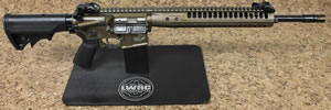 LWRC SIX8 Razorback Limited Edition Gas Piston Rifle, 6.8 SPC, 16 in BBL, LWRCI Stock, Folding BUIS Sights, Bronze Finish, 30 Rd, Includes 500 rds of Federal 6.8 SPC Ammo, 1-2 Weeks Delivery