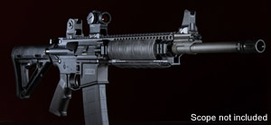 "Barrett Model REC7 Piston Operated Rifle System 12702, 6.8 SPC, 16"" Target Crown BBL, Omega X Rail, Semi-Auto, Fixed Stock, Black Finish, 10 Rds"