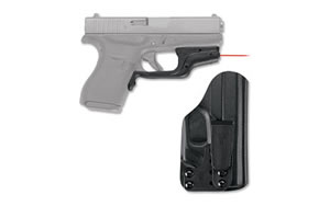 Crimson Trace Corporation Laserguard, Red Laser, Fits Glock 42, Black Finish, Laserguard and Bladetech Holster Combo, with 1 Lithium Battery LG-443-HBT-G42