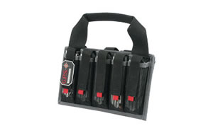 G-Outdoors Magazine Tote, Black, Soft, Fits 10 SA Pistol Mags GPS-1006MAG