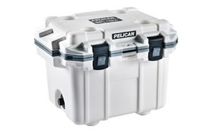 "Pelican ""Pelican, Elite Cooler, Cooler, White/Gray, Hard, 25.30"""" x 19.00"""" x 18.50"""""" 30Q-1-WHTGRY"