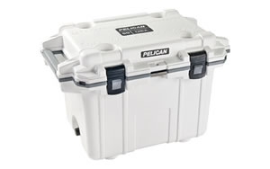 Pelican Pelican, Elite Cooler, Cooler, White/Gray, Hard 50Q-1-WHTGRY