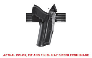 Safariland Model 6360 ALS/SLS Mid-Ride Level III Retention Duty Holster, Fits Glock 17/22 with Light, Right Hand, Plain Black Finish 6360-832-411