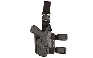 "Safariland Model 7TS ALS Tactical Holster with Quick Release, Fits Tactical S&W M&P 9/40 4"", Right Hand, Black 7385-219-411"