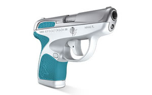 "Taurus Spectrum Pistol 1-007039-320, 380ACP, 2.8"" BBL, Light Blue and White Finish, 6Rd"