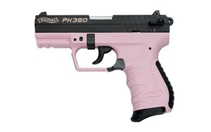 "Walther PK380 Pistol 5050311, 380ACP, 3.6"" BBL, Blue/Pink Finish, 8Rd"
