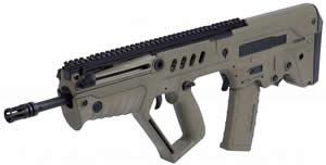 IWI Tavor SAR Bullpup Rifle TSFD18, 5.56 Nato, 18 in, Semi-Auto, Gas Piston, Syn Stock, Flat Dark Earth Finish, 30 Rds