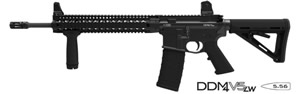 Daniel Defense M4 V5 LW Lightweight BBL Carbine DA-07109-NS, 5.56 NATO, 16 in, Blk Finish, 30+1 Rd, No Sights, Quad Rail, New Version w/Rail, Flash Supp