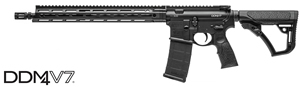 "Daniel Defense DDM4 V7 Mid-Length Carbine 02-128-02081-047, 223 Rem/5.56 Nato, 16"" Chrome-Lined BBL, Semi-Auto, 15"" DD MFR XS Rail, DD Adj Stock, Black Finish, 30 Rds"