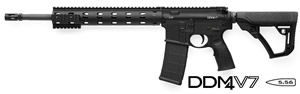 Daniel Defense DDM4 V7 Carbine 02-128-16178-047, .223 Rem/5.56 Nato, 16 in Chrome Lined BBL, Semi-Auto, DD Adj Stock, Blk Finish, 12 in DD Mod Rail, No Sights, 30 Rds