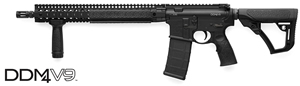 Daniel Defense DDM4 V9 Carbine 02-145-15175-047, .223 Rem/5.56 Nato, 16 in Chrome Lined BBL, Semi-Auto, DD Adj Stock, Blk Finish, 15 in DD Rail, 30 Rds