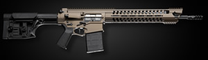 "POF-USA Gen 4 War Hog Heavy Rifle 01241, 308 Win/7.62 NATO, 16.5 in Fluted BBL, Luth-AR Adjustable Stock, 14"" M.R.R. Rail, Burnt Bronze Finish, 20+1 Rd"