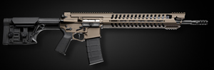 "POF-USA Gen 4 War Hog Light Rifle 00703, 223 Rem/5.56 Nato, 16.5 in Fluted BBL, Luth-AR Adjustable Stock, 14"" M.R.R. Rail, Burnt Bronze Finish, 30+1 Rd"