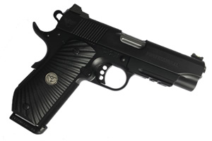 Wilson Combat CQB Light-Rail LightWeight Professional Pistol PROLRLW-PRR-45, .45 ACP, 4 in Stainless Match Grd BBL, G10 Grips, Armor-Tuff Finish, 8 Rds, Upgrade: Ed Brown Bobtail/Fluted Chamber, IN ST