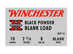 Winchester Super X Blank XBP10, 10 Gauge, Black Powder Blank, 25 Rd/bx, Case of 10 Boxes