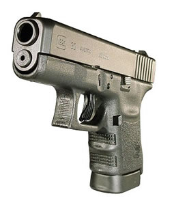 Glock Model 30 Subcompact Pistol PI3050201, 45 ACP, 3.78 in BBL, Dbl Actn Only, Polymer Grips, Fixed Sights, Blk Finish, 10 + 1 Rds