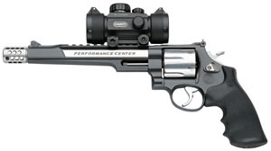Smith & Wesson Model 629 Revolver 170318, 44 Rem Mag, 7.5 in, Black Syn Grip, Two Tone Stainless Finish, 6 Rd