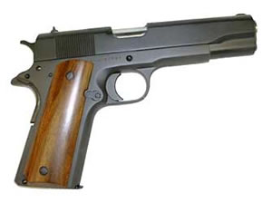 Armscor Rock Island 1911 GI Pistol 51815, 38 Super, 5 in, Wood Grips, Parkerized Finish, Fixed Sights, 9 Rd