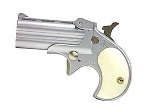 Cobra Derringer C22SP, 22 LR, 2.4 in, Pearl Grips, Nickel Finish, Fixed Sights, 2 Rd