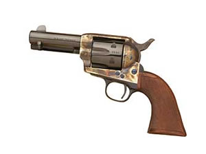 Cimarron New Sheriff Revolver CA332, 45 LC, 3.5 in, Wood Grips, Blue Finish, 6 Rd