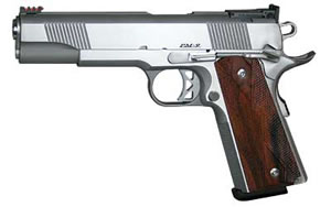 Dan Wesson Pointman 9 Pistol 01909, 9 mm, 5 in, Wood Grips, Stainless Finish, Adj Sights, 9 Rd