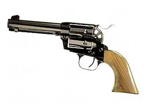 EAA Bounty Hunter Revolver 770061, 357 Mag, 4.5 in, Walnut Grips, Blue Finish, Fixed Sights, 6 Rd
