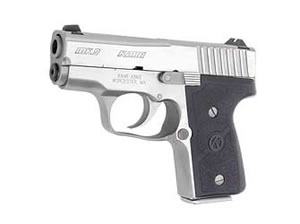 Kahr Model Mk9 Micro Compact Pistol M9098N, 9MM, 3 in, Polymer Grips, Stainless Finish, Night Sights, 5 Rd, 2 Mags, DAO