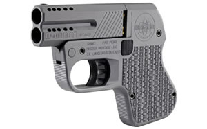 Double Tap Tactical Pocket Pistol DT045011, 45 ACP, 3 in, Matte Black Finish, Fixed Sights, 2 Rd Ported