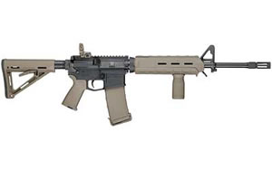 Smith & Wesson Model M&P 15 Rifle 811054, 5.56 NATO, 16 in, Magpul MOE Stock, Flat Dark Earth Finish, Flip Up Rear, 30 Rd