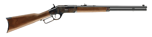 "Winchester Model 73 Short Rifle Case Hardened 534202140, 44-40 Winchester, 20"" BBL, Lever Act, Grade II/III Walnut Stock, Polished Blued Finish, 10 + 1 Rd"