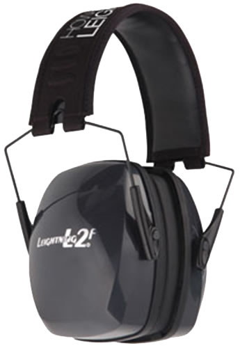 Howard Leight R01525 L2F Electronic Hearing Protection Earmuffs, NRR 27 dB, Black/Blue