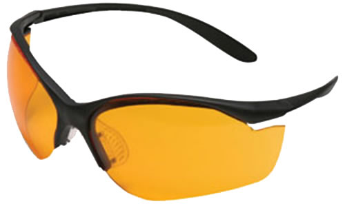 Howard Leight Vapor II Sharp-Shooter Glasses R01537 w/Orange Lens & Black Frame
