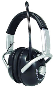 Radians AMFM21 Padded Headband w/Soft Ear Cushions AM/FM Radio Earmuff, NRR 21 dB, Black