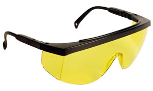 Radians G4J140BP G4 Junior Glasses w/5 Temple Position & UV Protection, Yellow