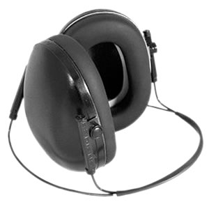 Radians LS0101CS Compact Muff w/Adjustable Headband & Foam Filled Ear Cushions, NRR 19 dB, Black
