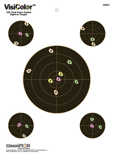 Champion 45827 8 in Visicolor Paper Targets 10 Pack
