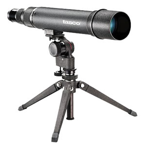 Tasco Spotting Scope Package WC206060, 20-60x, 60mm, Black, Window Mount & Tripod
