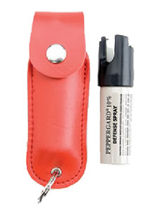 Mace Security  OC Pepper Spray w/Leather Pouch & Keyring 11 Gr 80184