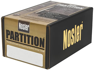 Nosler 16330 Partition Spitzer 30 Cal 165 Grain 50/Box, (Not Loaded)