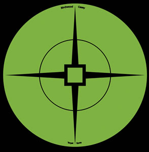 Birchwood Casey 33936 Target Spots Green, 6 in, 10 Ct