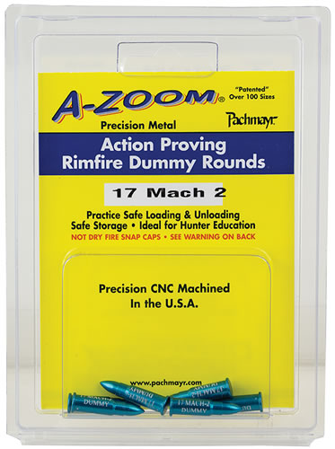 Pachmayr 12204, 22 Winchester Magnum Rimfire, Action Proving Dummy Rounds, 6 PK